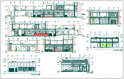 Corporate building plan detail dwg file