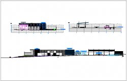 Corporate building sectional view dwg file