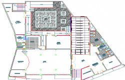Corporate office architecture layout plan with location map dwg file