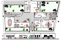 Corporate office architecture project dwg file