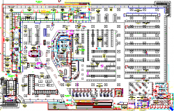 Corporate office building architecture layout plan dwg file