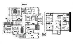 Corporate office building distribution plan cad drawing details dwg file