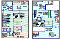 Corporate office building floor plan details dwg file
