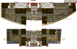 Corporate office building floor plan layout details dwg file