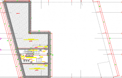 Corporate office general plan with staircase dwg file