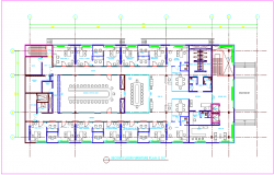 Corporate office second floor furniture plan design dwg file