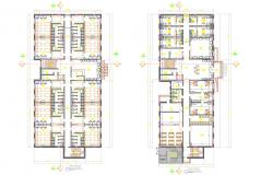 Corporate office with Employees Bedroom layout plan