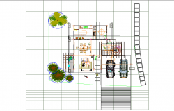 Country house plan detail dwg file