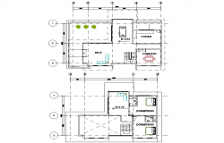 Country house planing detail dwg file