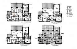 Country side villa house floor plan cad drawing details dwg file