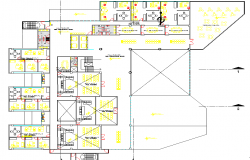 Court house high rise building dwg file