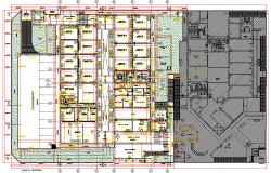 Courts plan detail dwg file