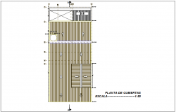 Cover plan of Columbia house design dwg file
