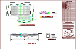 Cover plan of communication office building with structural detail dwg file