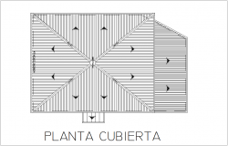 Cover plan of house with architectural view dwg file