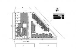 Cover plan structure details of culture center dwg file