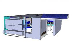 Creative 3d office model cad drawing details dwg file