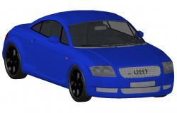 Creative audi car block 3d drawing details dwg file