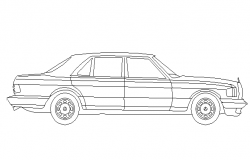Creative car 2d elevation block design dwg file