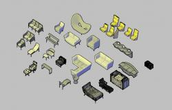 Creative common 3d furniture blocks cad drawing details dwg file