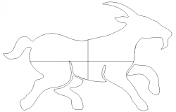 Creative donkey view cad block details dwg file