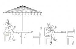 Creative garden furniture blocks cad drawing details dwg file