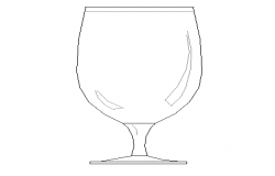 Creative glass cup cad blocks design dwg file