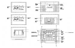 Creative household furniture and interior blocks cad drawing details dwg file