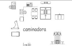 Creative kitchen furniture blocks cad drawing details dwg file