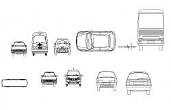 Creative miscellaneous vehicle blocks cad drawing details dwg file