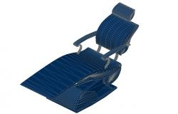 Creative patient chair 3d elevation cad block details dwg file