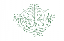 Creative plant design block dwg file