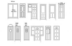 Creative single doors and sliding door blocks details dwg file