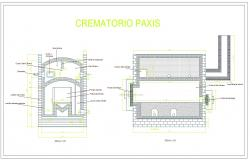 Crematorium oven cad drawing