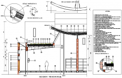 Cross section plan detail dwg file