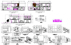 Cub board section plan detail dwg file