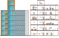 Cultural Center Design and Elevation dwg file