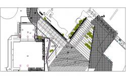 Cultural center plan detail dwg file