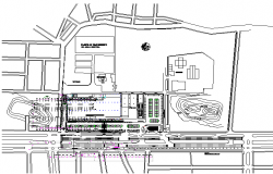 Culture house layout detail dwg file