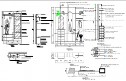 Cupboard detail dwg file