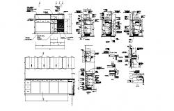 Cupboard elevation, section, plan and carpentry cad drawing details dwg file