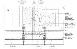 Curtain Glass Wall Installation CAD Drawing