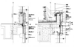 Curtain Wall Anchor System DWG File