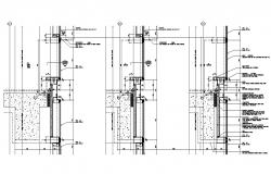Curtain Wall Section CAD Drawing