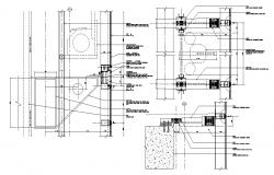 Curtain wall  Fixing CAD Drawing