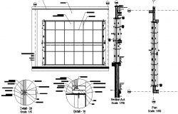 Curtain wall construction details dwg file