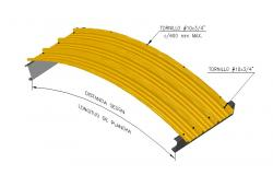 Curve 3 metal structure panel 3d drawing details dwg file