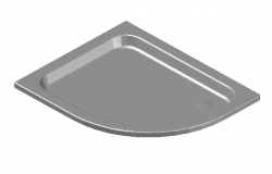 Curved shower tray file in 3d