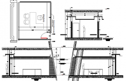 Cut sectional view of corporate office dwg file