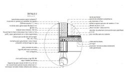 Cut wall construction details of house wall cad drawing details dwg file